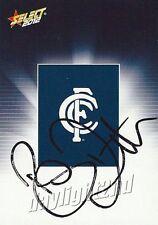 ✺Signed✺ 2012 CARLTON BLUES AFL Card BRETT RATTEN