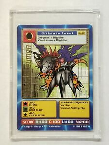 Digimon Digital Monsters MetalGreymon GOLD TEXT Card BO-80 Used Free Shipping