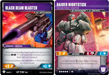 Transformers TCG: Raider Nightstick - Ground Force Weapons // Black Beam Blaster