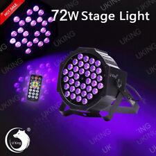 U`King 36 LEDs UV Par Schwarzlicht Strahler Stage Licht Effekt DMX512 + Remote