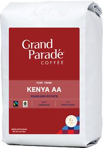 Fresh Green Coffee Beans, 5 lbs Kenya AA Nyeri Pearless Specialty Raw, Unroasted