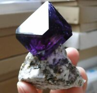 Amazing Nice - TOP Luster Deep Purple ALUNITE crystal on MATRIX from POLAND