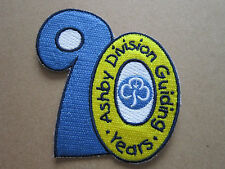 Ashby Division 90 Years Girl Guides Cloth Patch Badge (L2K)