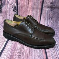 Johnston Murphy Spain Men's Brown Leather Crepe Sole Slip Toe Dress Shoe Sz 10.5