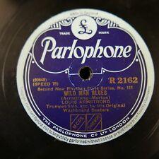 78rpm LOUIS ARMSTRONG wild man blues / melancholy blues R 2162