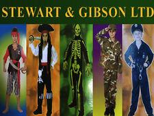 Boy's Halloween Fancy Dress Costumes - Police, Army, Pirate, Skeleton, Capt. Jac