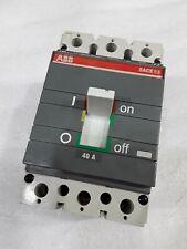 S3N040TW ABB 3POLE 40AMP 600V CIRCUIT BREAKER 2 YEAR WARRANTY