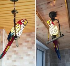 LED Glass Parrot Ceiling Light Balcony Chandelier Lighting Pendant Lamp Fixture