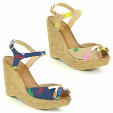 Sandals Textile Multi-Coloured Heels for Women