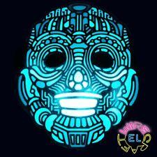 PLAIN NERO PIENO VISO MASCHERA Robot Costume STADIO MIME Masquerade Ball