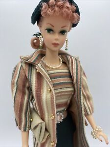 OOAK Vintage Reproduction Ponytail Barbie Repaint With OOAK Green Roman Holiday