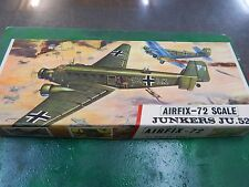 AIRFIX  plastic model kit 1/72 scale Junkers JU 52