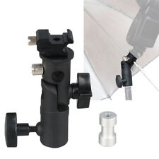 "E-III Type Flash Hot Shoe Umbrella Holder Light Stand Bracket For 1/4"" 3/8"" DSLR"