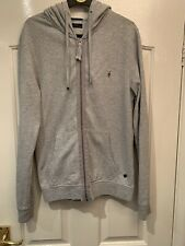 Genuine Men's Allsaints Hoody Size Small Grey Cotton VGC Lightweight