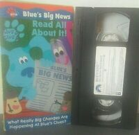 Blues Clues - Blues Big News - Read All About It (VHS, 2001) Nick Jr Educational