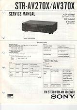 SONY - STR-AV270X/AV370X - Service Manual - B2372