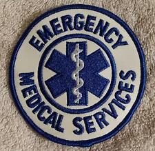 Round Emergency Medical Services Patch EMS - Star of Life