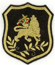 """RASTA Conquering Lion in shield Embroidered Patches 3.25""""x2.75"""""""