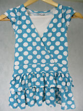 Girls  Light Blue with White Dots Summer Dress by X-Mail 100% Cotton  3-4 Yrs