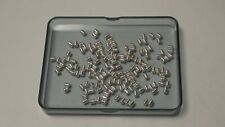 27.0 Gr of Corrugated Barrel Silver Plated 5.0 mm Beads