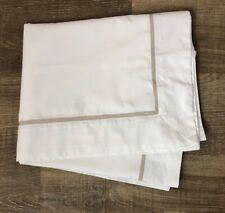 Ralph Lauren King Pillow Sham White Taupe Frame