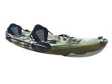 Tandem Double Kayak 2 1 Sit on Top Galaxy Sensational Orange Camo Colour