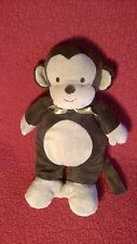 """13"""" Carter's MONKEY  baby CRIB PULL CONVERTED TO SOFT TOY brown plush stuffed"""