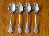 """ONEIDA Morning Blossom Teaspoon Spoon 6"""" Stainless Steel Flatware EUC set of 4"""