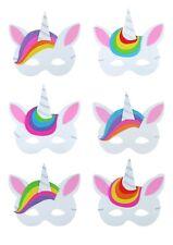 30 x niña unicornio disfraz Foam Máscaras Vestido Relleno Bolso Fiesta Máscara
