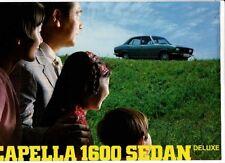 1970 MAZDA CAPELLA 1600 SEDAN DELUXE Brochure