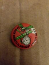 1966 The Green Hornet TV Series Flashlight Watch White Variant Pinback Button