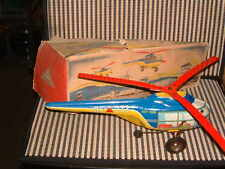 1953 TECHNOFIX NR. 273 TIN HUBSCHRAUBER (HELICOPTER 1ST GEN) WORKING W/BOX!!