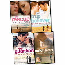 Nicholas Sparks 4 Books Collection Pack Set The Rescue Guardian True Believer BN