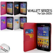 Billetera Cuero Estuche Para Samsung Galaxy GT-N7000/i9220 con tarjeta Note titular