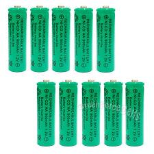 10x AA 900mAh Ni-Cd NICD Ni-Cad 1.2V rechargeable battery cell/RC Green US Stock