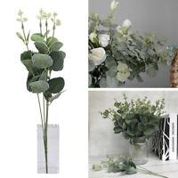 Künstliche gefälschte Seidenblume Eukalyptus Pflanze grüne Blätter Home Decor