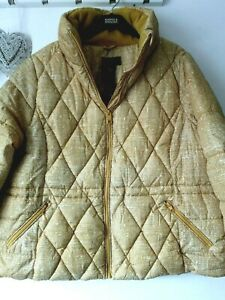LADIES M&S SIZE 24 HONEY MIX THERMOWARMTH STORMWEAR QUILTED PUFFER JACKET