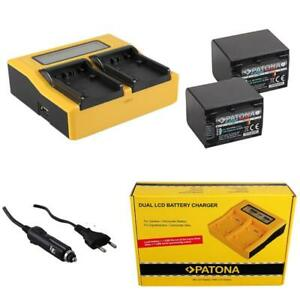 2x Batterie Patona Platinum + Ladegerät Schnell Dual LCD Für Sony HDR-XR550VE