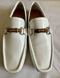 Gucci White Leather Bamboo Bit Summer Loafer 8 (US 9)