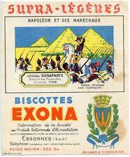 BUVARD PUBLICITAIRE BISCOTTES EXONA NAPOLEON ET SES MARECHAUX GENERAL BONAPARTE