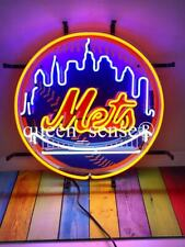 "New York Mets Light Lamp Neon Sign 20""x20"" with Hd Vivid Printing Technology"