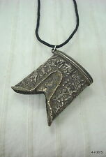 ancient antique collectible old silver pendant rajasthan india