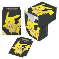 PIKACHU 2019 YELLOW BLACK ULTRA PRO deck box CARD BOX FOR POKEMON CARDS