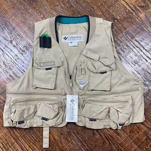 Columbia PFG Henry's Fork Fly Fishing Vest Men's Large L British Tan NEW NWT