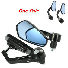 "2pcs/Set Motorcycle Rear View Handle Bar End Side Rearview 7/8"" Mirrors Black"
