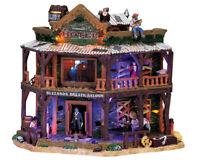 New Lemax Spooky Town DRY GULCH HOTEL #75553 BNIB Illuminated Building & Sound