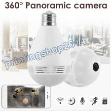 NEW WiFi VR Light Bulb Security Camera 960P Wireless  IP Camera 360° Cam IR