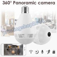 NEW WiFi VR Light Bulb Security Camera 960P Wireless  IP Camera 360° Cam IR