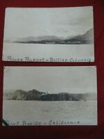 Antique 1920's Post Card Lot of 2 Trave Sites California British Columbia