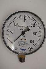 """Wika 4"""" Fire protection sprinkler water gauge, up to 300 PSI, new but no box"""